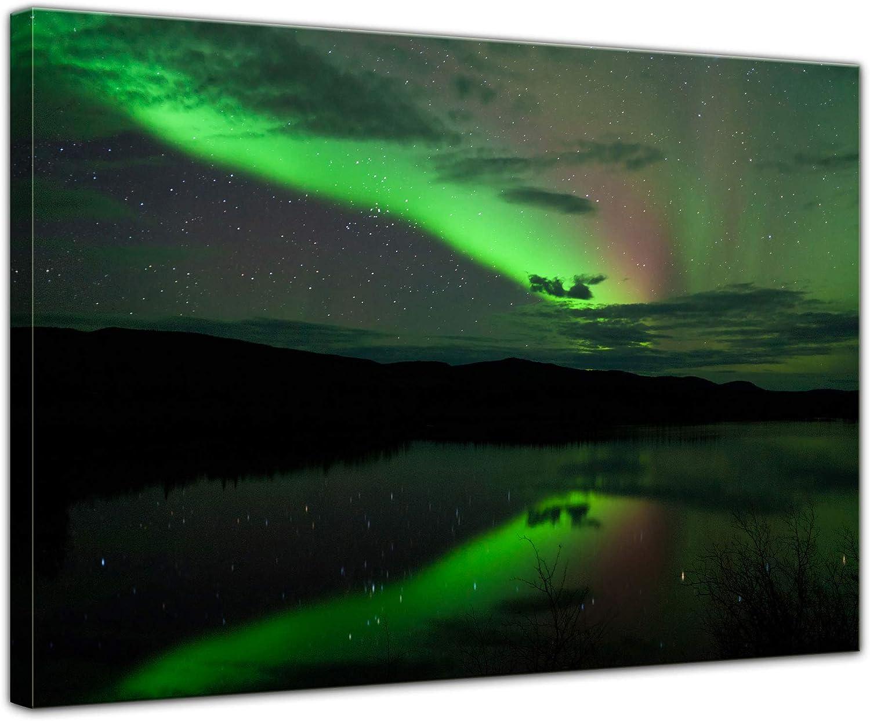 Bilderdepot24 Cuadros en Lienzo Luces del Norte - 150 x 90 cm 3 ...