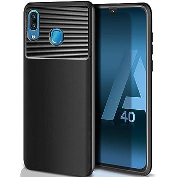 ivencase Carcasa Samsung Galaxy A40 Funda Silicona, Ultra Slim Suave Silicona TPU Bumper Anti-arañazos Antigolpes Caja para Samsung Galaxy A40 Case ...