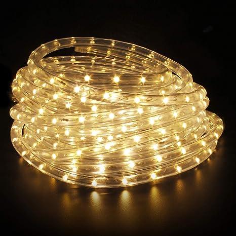 LED Lichterschlauch Leuchtschlauch Lichtschlauch 2-50m warmweiss Beleuchtung