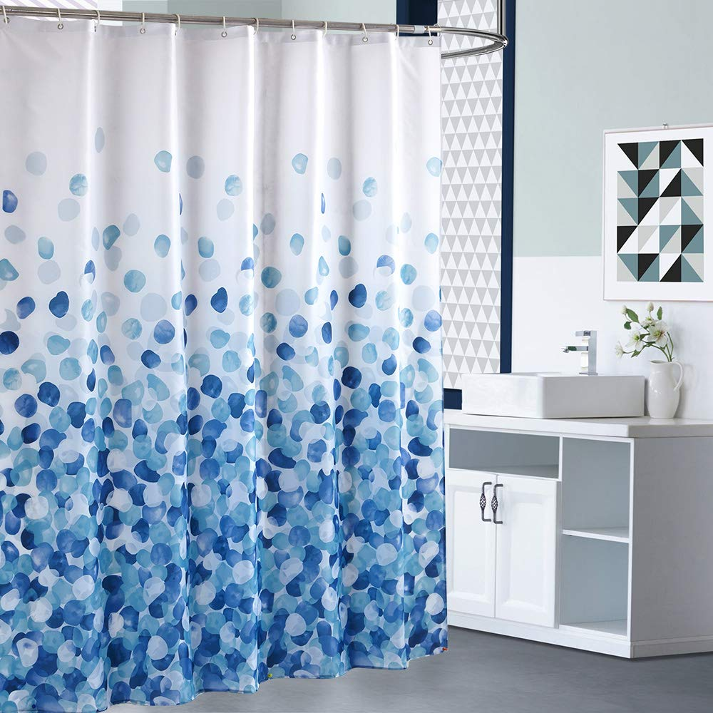 ARICHOMY Shower Curtain Set, Bathroom Fabric Curtains Waterproof Colorful Funny with Standard Size 72 by 72 (Blue) by ARICHOMY (Image #6)