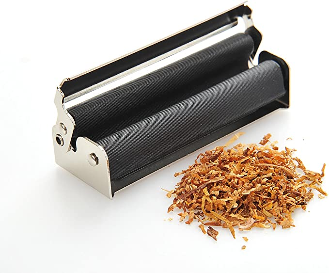 Imagen deThe Khan Outdoor & Lifestyle Company Maquina Manual de Liar Cigarrillos (Maquina para enrolar) Hecha de aleación de Zinco (8cm x 2.9cm x 2cm), de Color Plata, 1548 DE