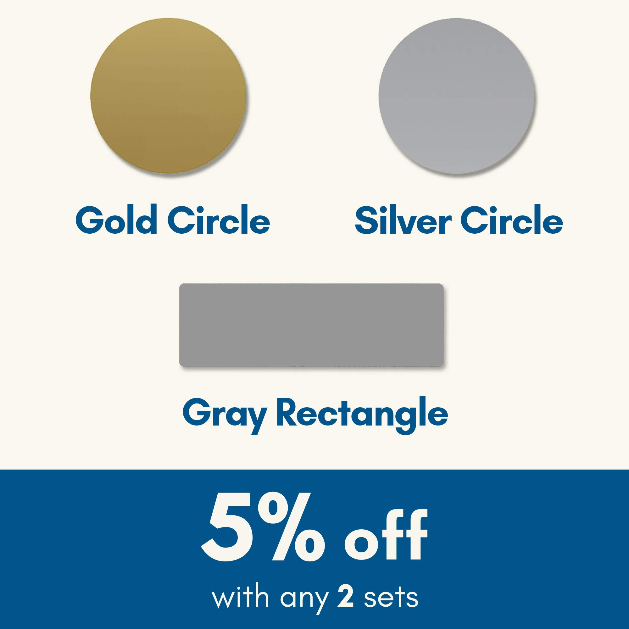 1'' Scratch Off Sticker Labels - Gold Round Circle, Pack of 150 by ScratchStix (Image #1)