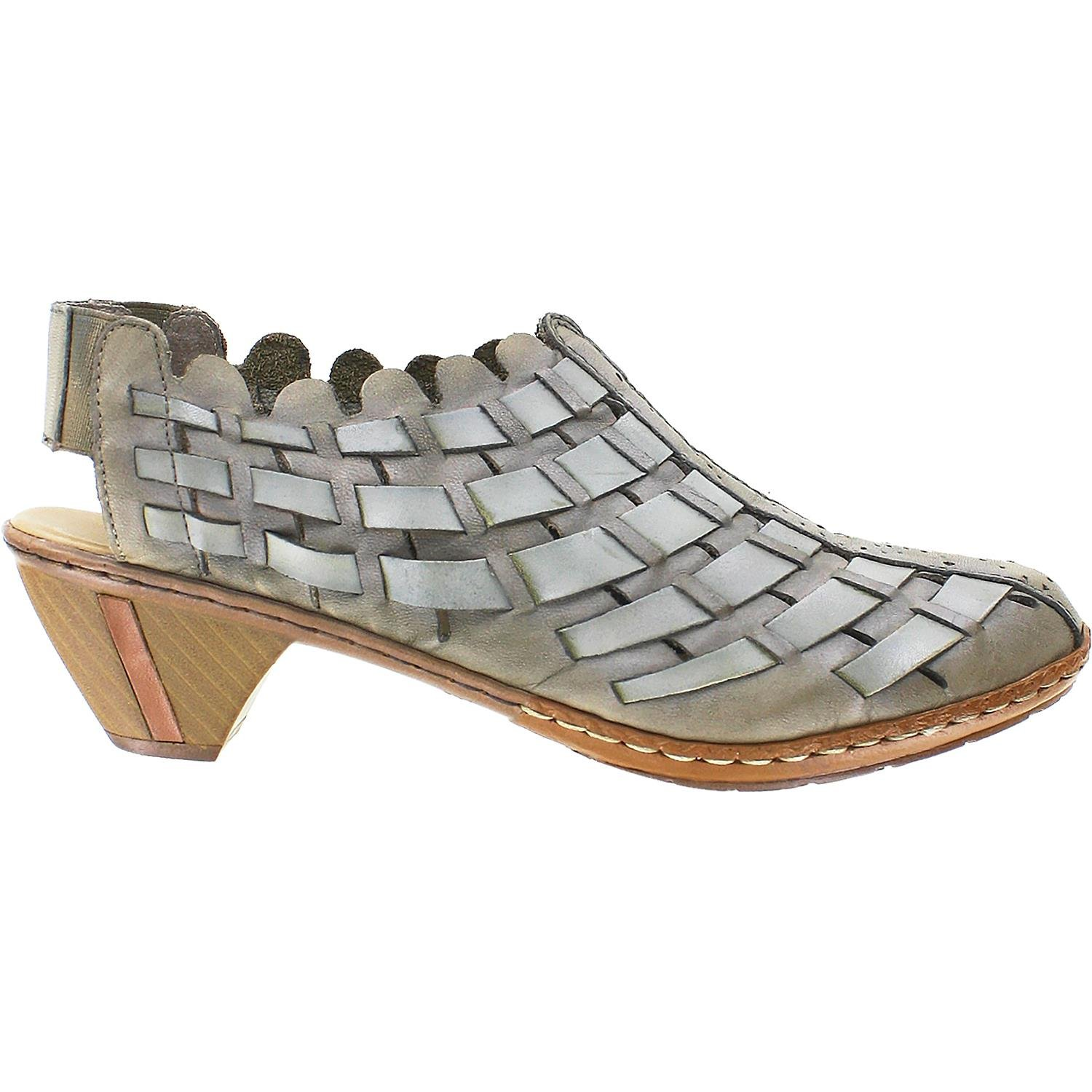 Women's Rieker, Sina woven leather casual style TAUPE 42 M by Rieker