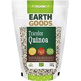 Earth Goods Organic Tricolor Quinoa, NON-GMO, Gluten-Free, Good Fiber Source 340g