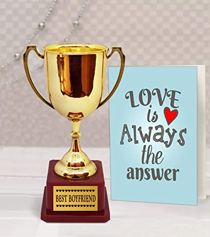 Amazon.com & Amazon.com: TiedRibbons Tied Ribbons Golden Trophy with Greeting ...