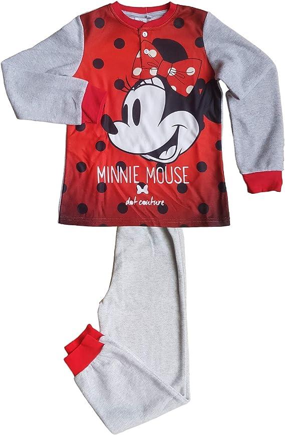 Serafino Minnie Mouse Bambina Pile MOD Disney Pigiama Invernale Bimba