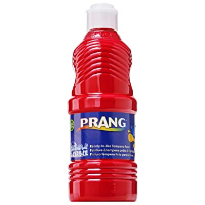 Prang 10701 Washable Paint, Red, 16 oz (DIX10701), Pint: Office Products