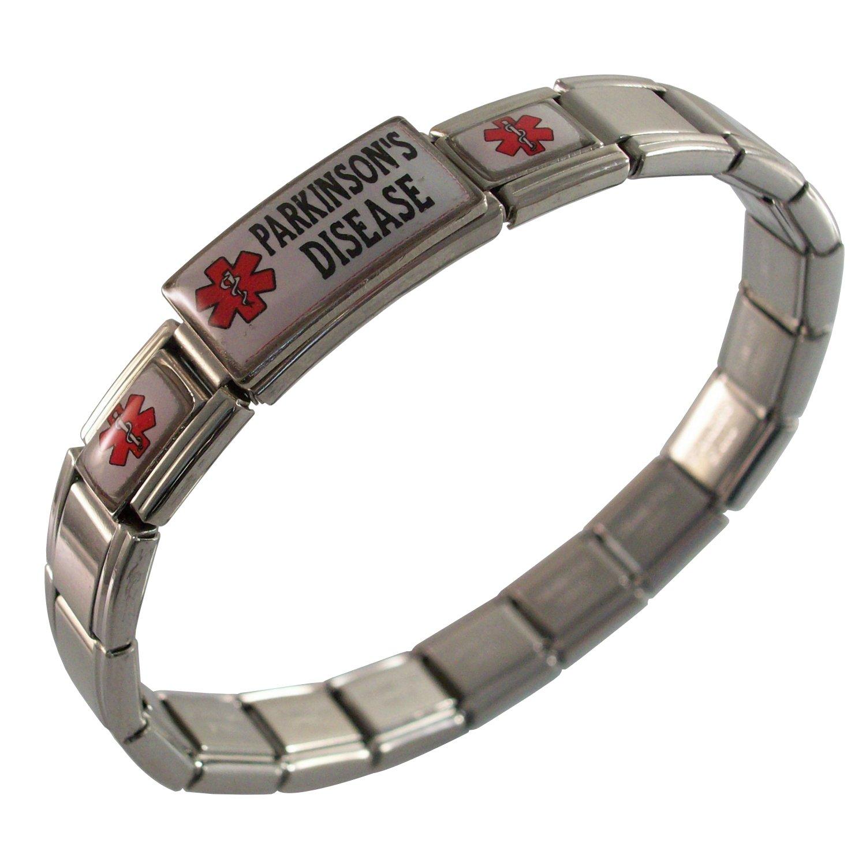 Parkinson's Disease Medical Italian Charm Bracelet Gadow Jewelry JKUM-643