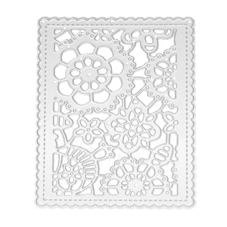 Acero al carbono Fondo decoración repujado corte muere stencils plantillas de molde set para álbum de Scrapbooking DIY tarjeta de papel: Amazon.es: Hogar