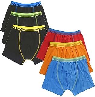 3 x Boy Kid Children Rib Elastic Waist Band Boxer Short Button Fly Underwear