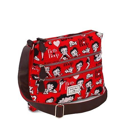 Karactermania Betty Boop Rouge Bolsos Bandolera, 30 cm, Rojo