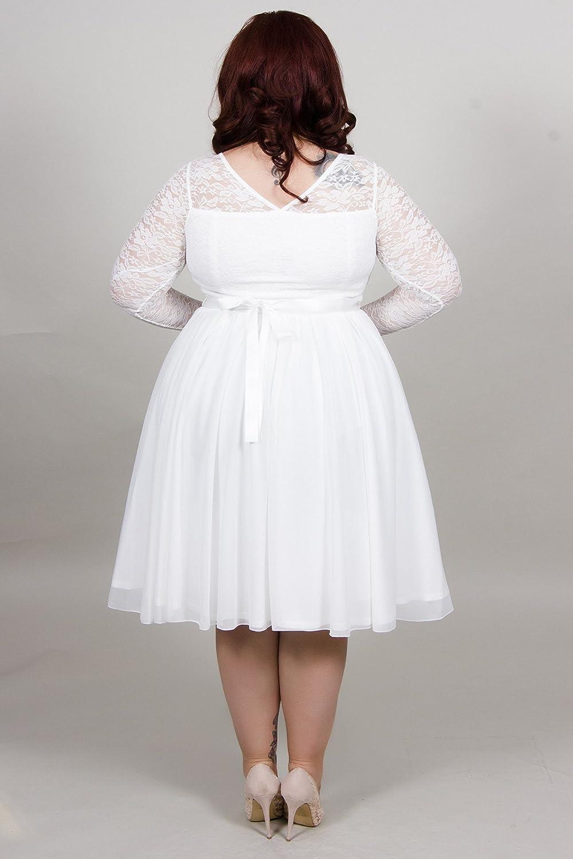 Scarlett & Jo Plus Size Bridal Lace Prom Dress Curve Fashion: Amazon.co.uk: Clothing