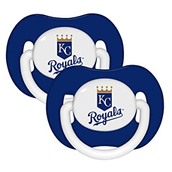 Amazon.com: Kansas City Royals 2-Pack Set de azul Chupete ...