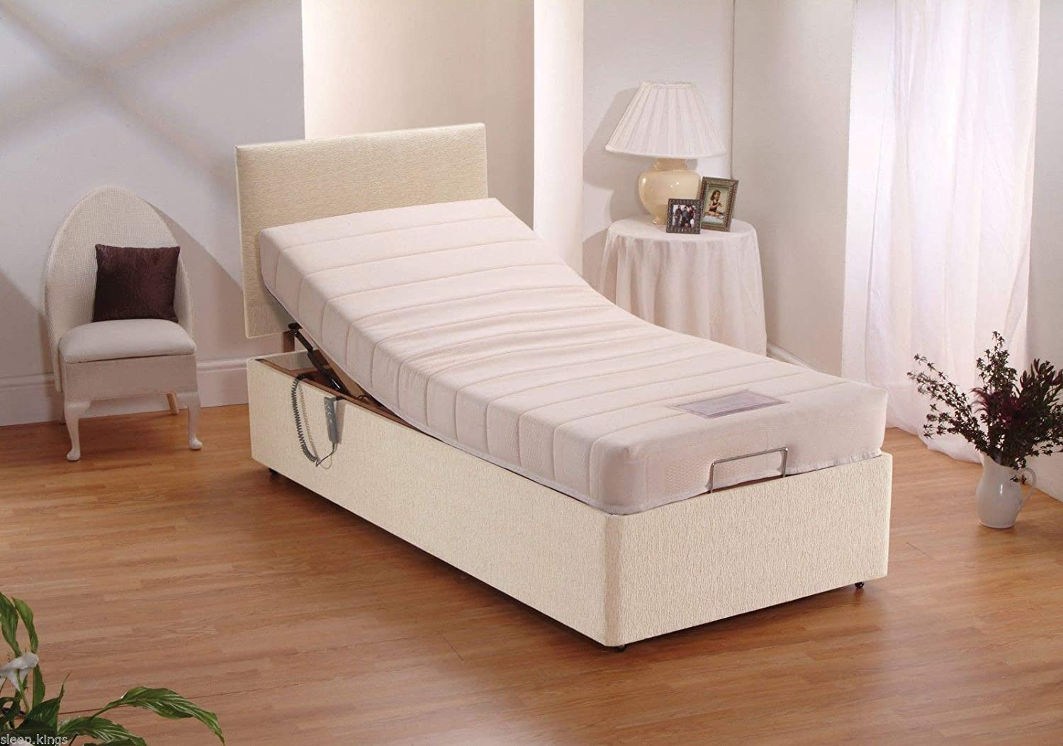 Sleepkings Quality 3ft Electric Bed Single Adjustable Bed With