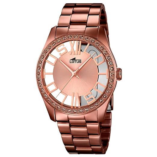 Lotus Reloj Analógico para Mujer de Cuarzo con Correa en Acero Inoxidable 18129/1: Amazon.es: Relojes