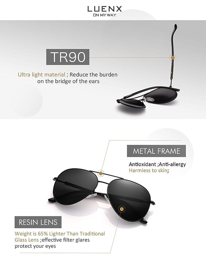 Amazon.com: LUENX - Gafas de sol para hombre y mujer, lentes ...