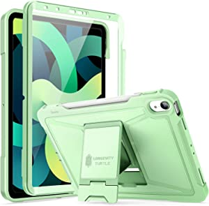 ZtotopCase for New iPad 10.9 Inch/iPad Air 4th Gen Case (2020 ONLY), Built-in Screen Protector, Dual Layer Shockproof Full Protective Cover with Pencil Holder, Support Apple Pencil 2 Charging- Green