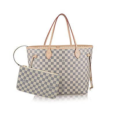 368b5c04002 Image Unavailable. Image not available for. Color  Louis Vuitton Damier  Azur Canvas Neverfull MM N41361