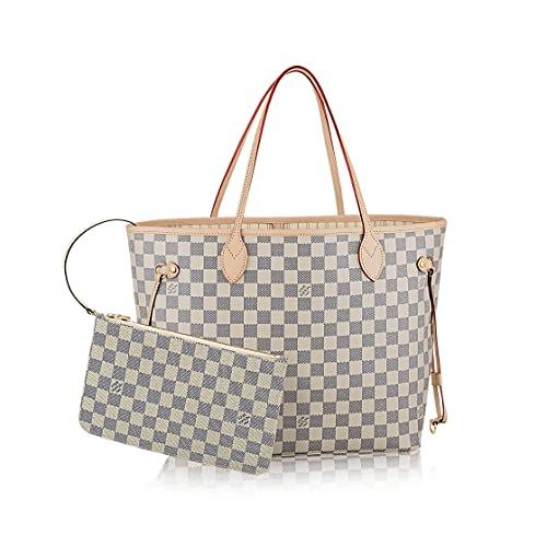 f08fe973c7ee Image Unavailable. Image not available for. Colour  Louis Vuitton Damier  Azur Canvas Neverfull ...
