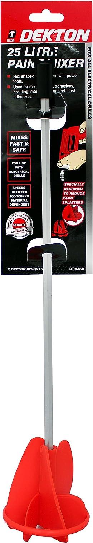 Dekton dt95860/25/Gallon mezclador de pintura negro//rojo