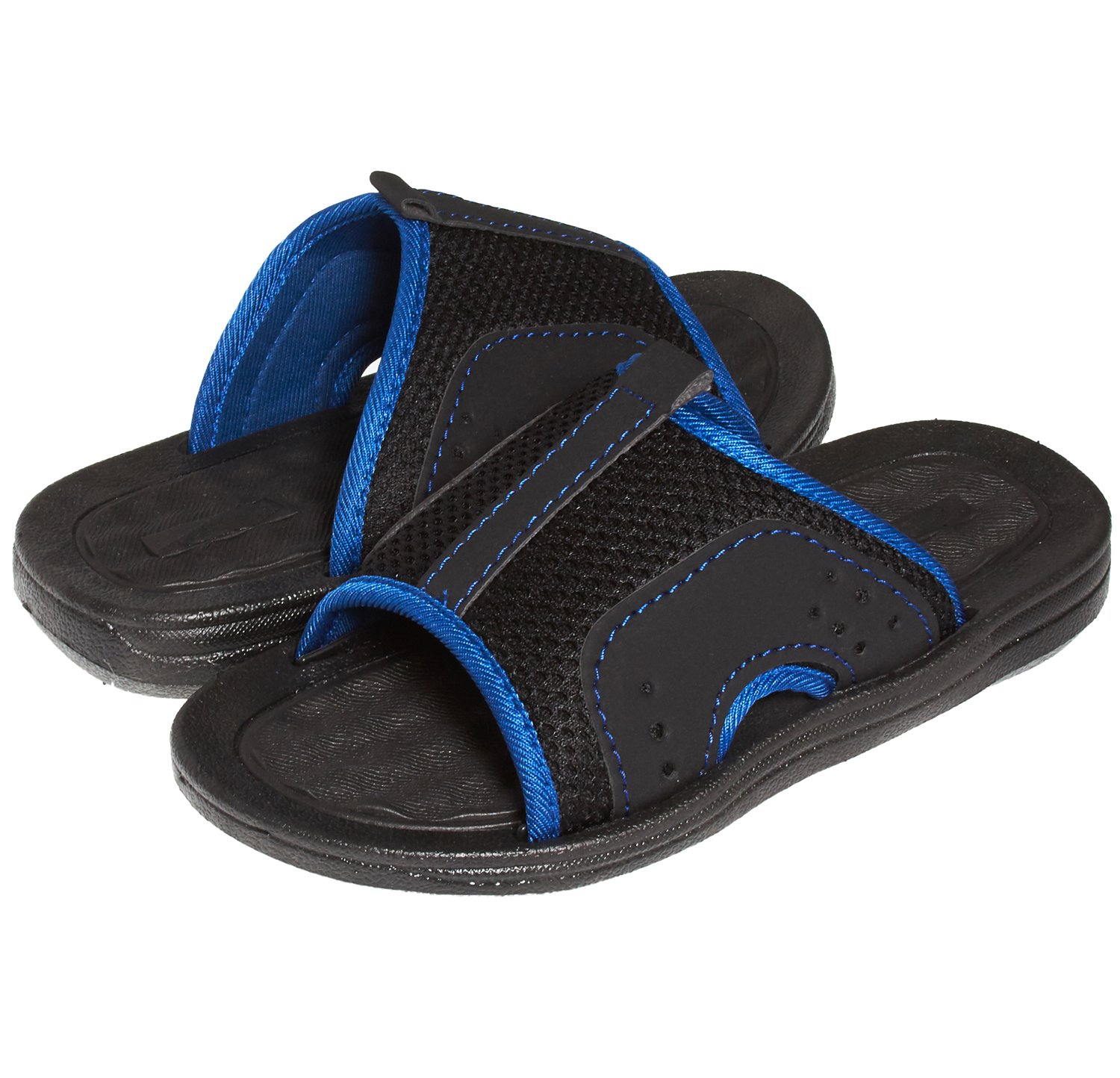Skysole Boys Open Toe Rugged Mesh Slides Sandals Grey/Blue 4/5 US Big Kid by Skysole (Image #1)