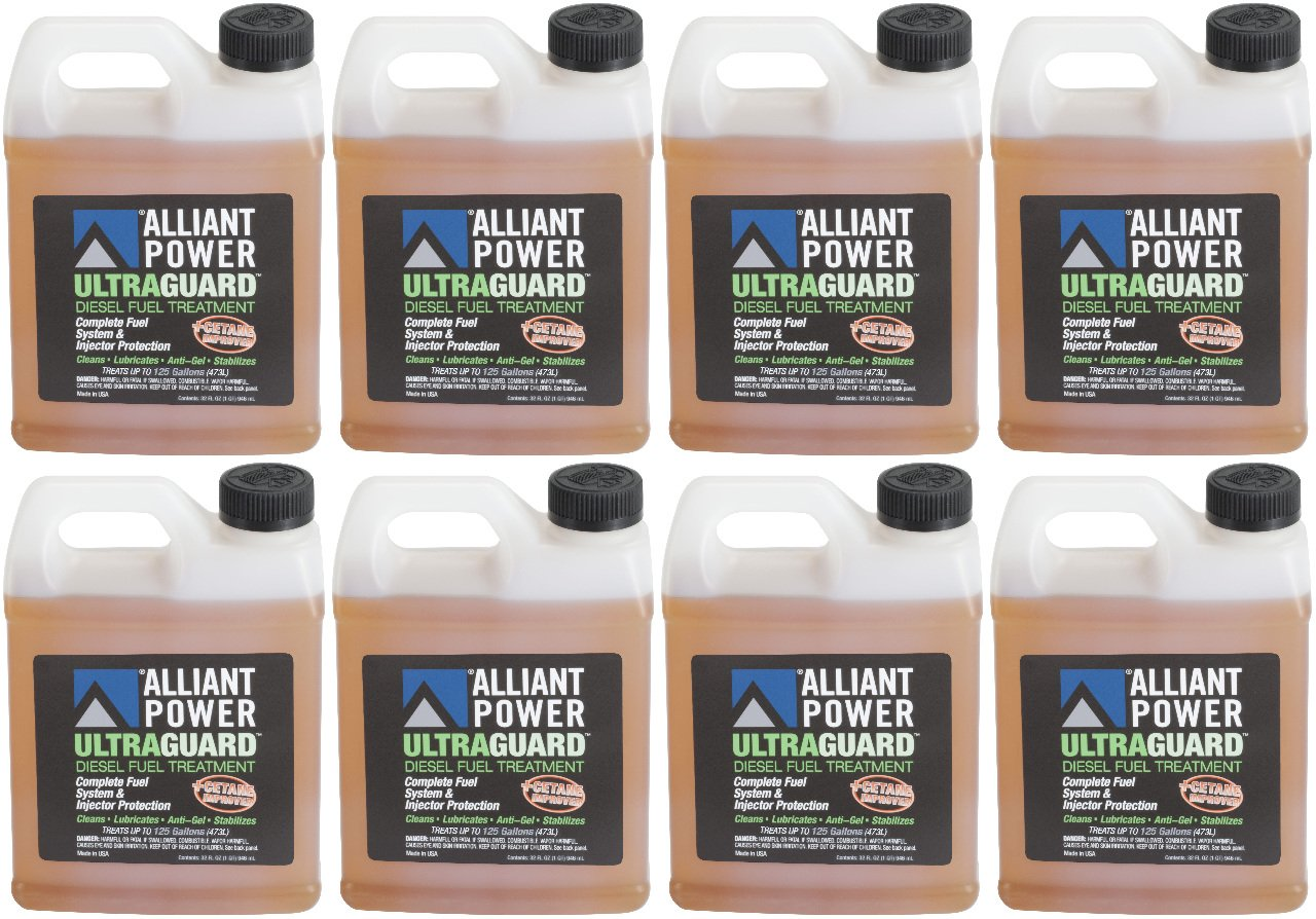 Alliant Power ULTRAGUARD Diesel Fuel Treatment - 8 Pack of 32 oz Jugs # AP0502 by Alliant Power