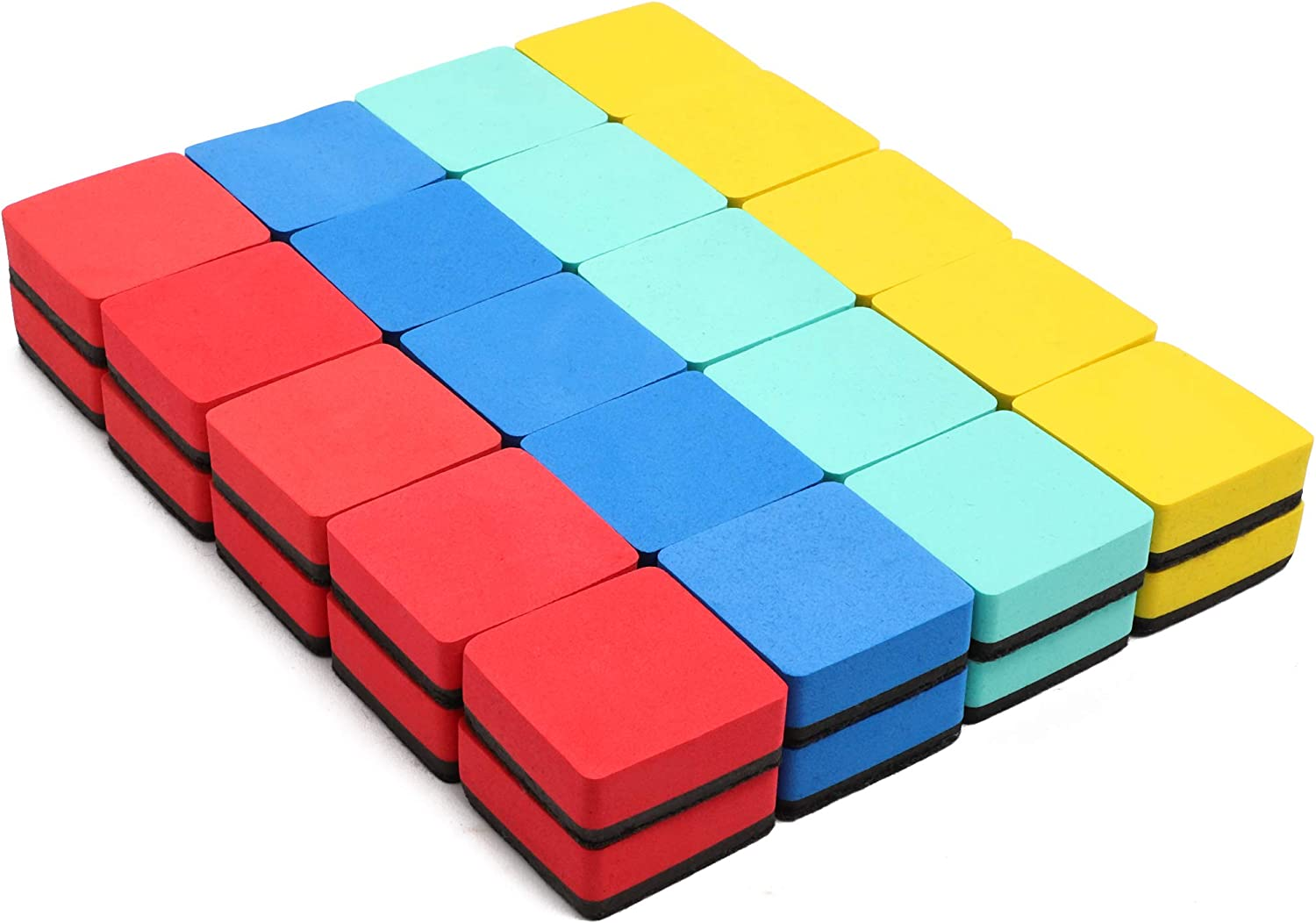 2 x 2 in, Felt and Foam, 40 Pack Bright Creations Dry-Erase Erasers