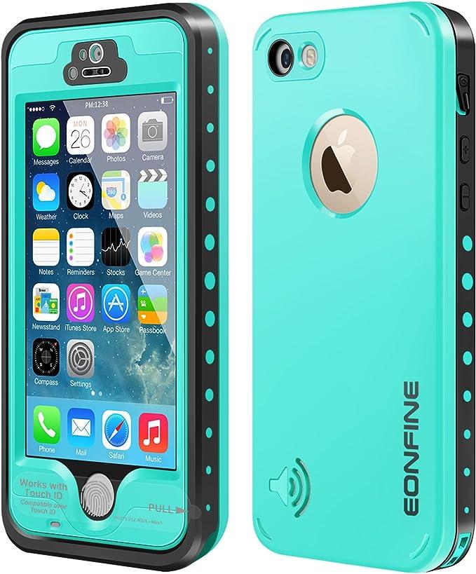 iPhone 5 5S Carcasa Sumergible, eonfine resistente al agua bajo el agua 6,6 Nieve de pie schmutzfester antigolpes IP68 Certificado compatible con ...