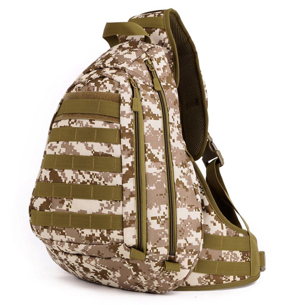 cinmaul Táctica Militar Sling Pecho Bolsa de transporte Varios MOLLE Mochila Mochila para portátil Varios transporte colores Desert Camouflage 7102f4
