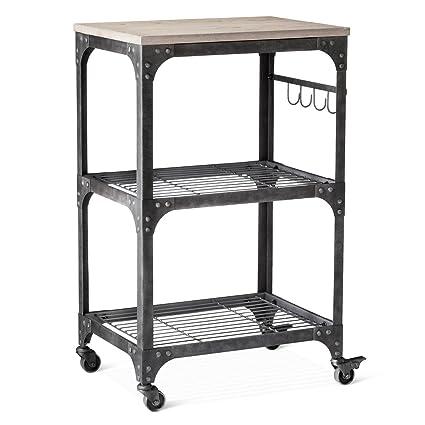 Amazon.com: Franklin microondas, carrito de cocina: Kitchen ...