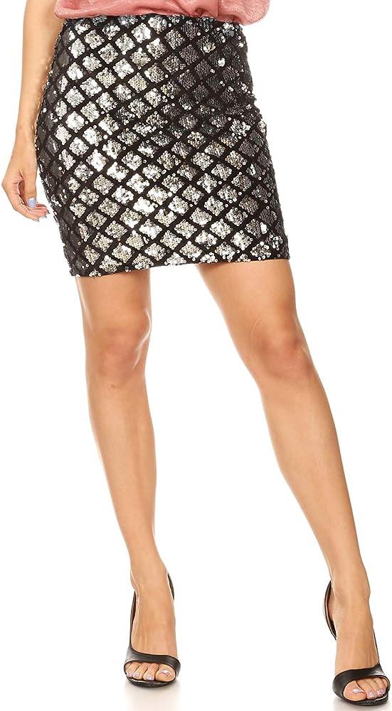 ANNA-KACI Vegas Night out - Mini Falda de lápiz elástico con ...