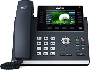 Yealink T46S IP Phone, 16 Lines. 4.3-Inch Color LCD. Dual-Port Gigabit Ethernet, 802.3af PoE, Power Adapter Not Included (SIP-T46S)