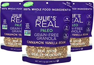 product image for Julie's Real Paleo Grain-Free Granola, Cinnamon Vanilla Bean - Certified Gluten-Free, Non-GMO Project Verified, Paleo, Kosher - No Cane Sugar, All Real, Natural Ingredients - Pack of 3