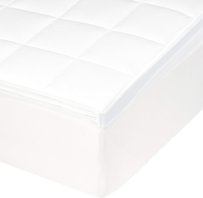 Amazonbasics - Cubrecolchón de espuma con memoria, 90 x 200 x 5 cm