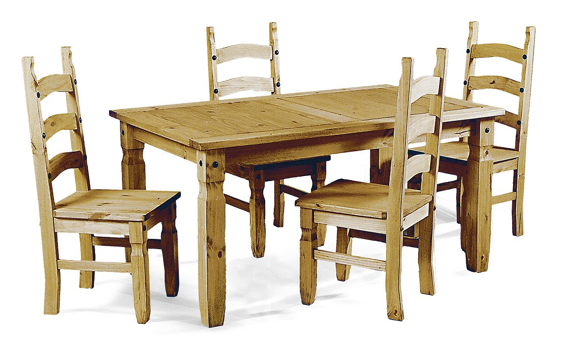 0b4475550d3 Mercers Furniture Corona 5  (150cm) Dining Table with 4 Chairs Dining Set