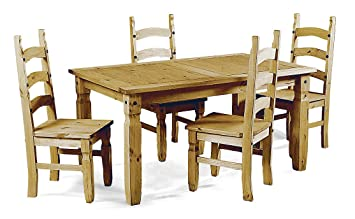 Mercers Furniture Corona 4ft Dining Table And 4 Chairs Pine