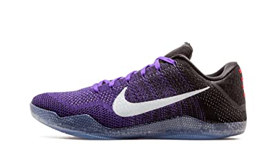 NIKE Men's Kobe XI Elite Low, Eulogy-Hyper Grape/White-Black-
