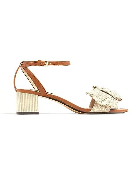 Massimo Dutti Sandalias de Vestir Mujer, Beige (Beige), 35 EU: Amazon.es: Zapatos y complementos