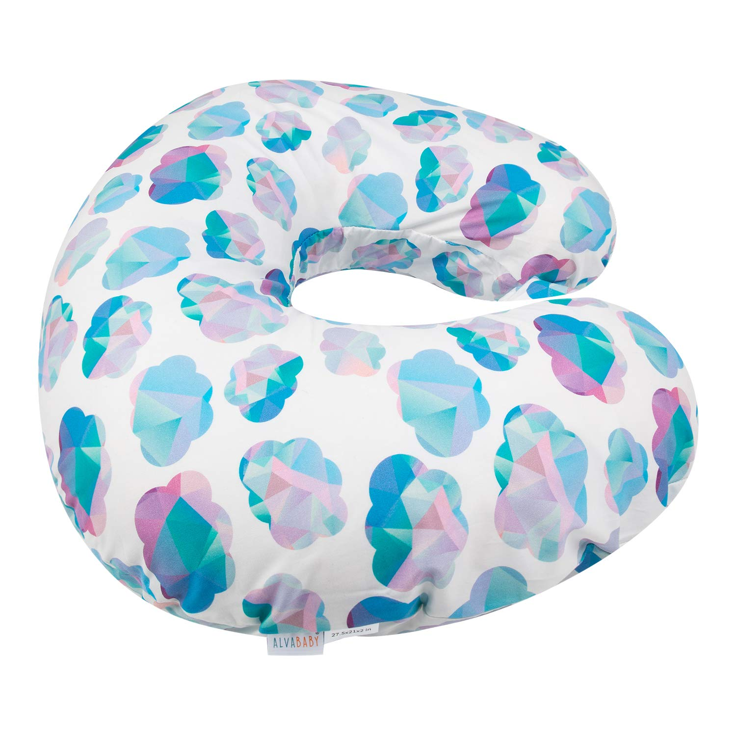 ALVABABY Nursing Pillow Cover Slipcover,100/% Organic Cotton,Soft and Comfortable,Feathers Design,Maternity Breastfeeding Newborn Infant Feeding Cushion Cover,Baby Shower Gift ZT-Z25