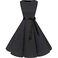 Bbonlinedress Women's 1950s Audrey Summer Vintage Rockabilly Swing Dress