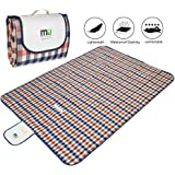 """Large Foldable Picnic Blanket Waterproof Beach 78""""x57"""" Camping Outdoor Blanket Mat by MIUCOLOR for Travelling Hiking GrassTriple Layers"""