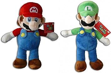 Super Mario Bros - Pack 2 Peluches Mario Bros (33cm) y Luigi (35cm ...