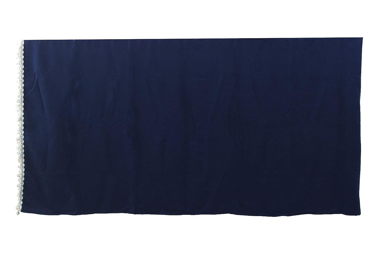 tenda a tunnel universale per camion HGV camion blu cuscino Set di 5 tende in raso con nappe bianche AutoCommerse visiera anteriore per parabrezza 2 finestre laterali