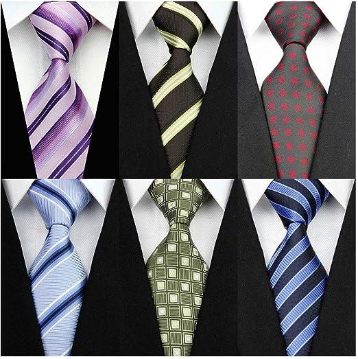 New Men/'s Polyester Neck Tie /& Hankie Set striped black blue Prom wedding