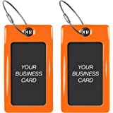 Luggage Tags TUFFTAAG Business Card Holder Suitcase Labels Travel Accessories