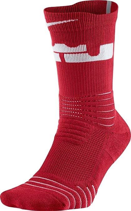 Nike Lebron James U Nk ELT Vrstlty Crew Calcetines, Hombre, Rojo (Team Red