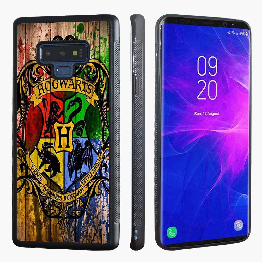Samsung Galaxy Note 9 Case,VONDER Harry Poter Hogwarts School Crest Black TPU Tough Phone Case Cover for Samsung Galaxy Note 9