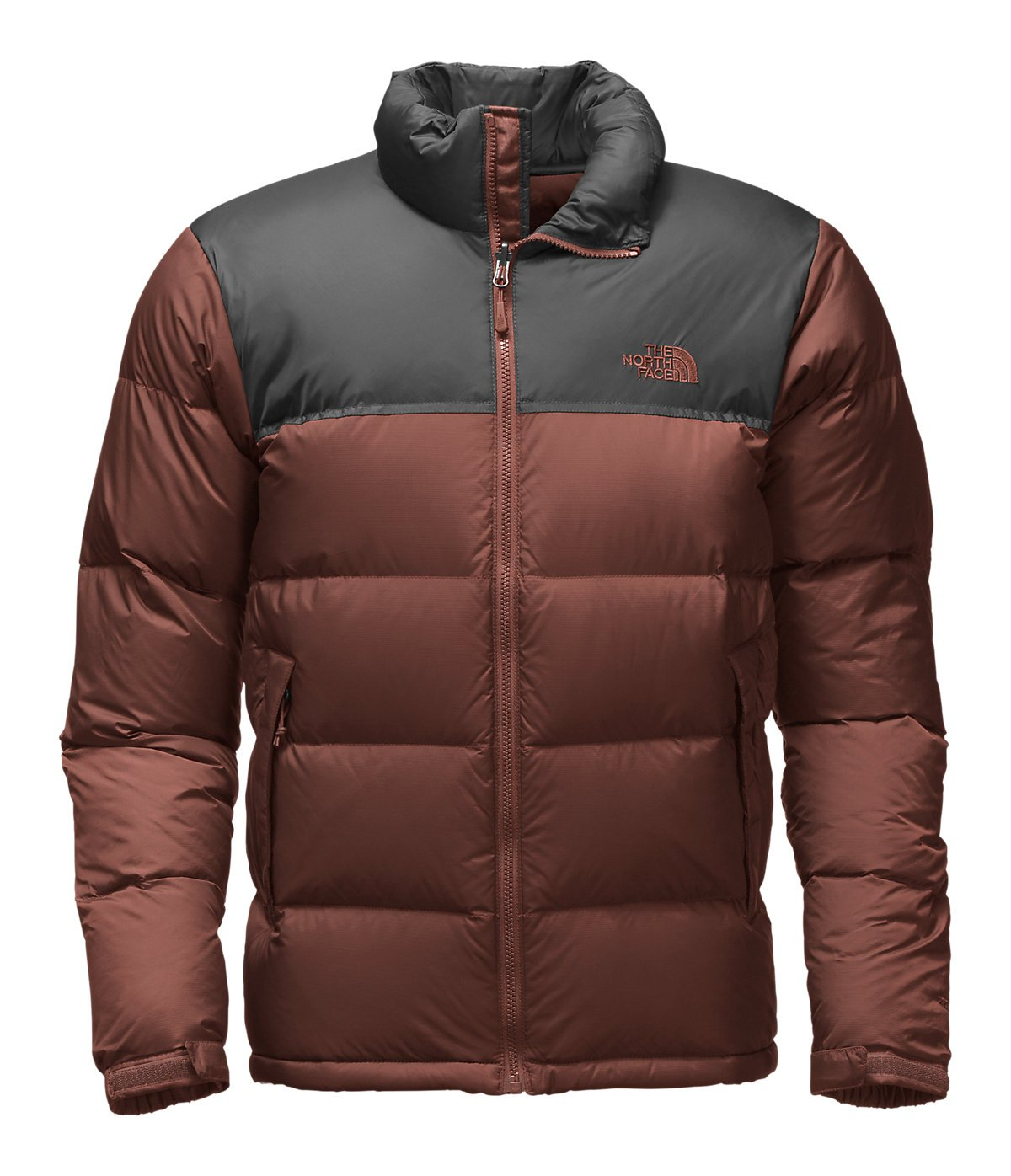 The North Face Men's Nuptse Jacket (X-Large, Sequoia Red/Asphalt Grey) by The North Face (Image #1)