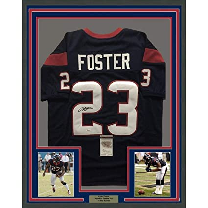 finest selection 7eafd 2607e Arian Foster Signed Jersey - FRAMED 33x42 Houston Blue COA ...