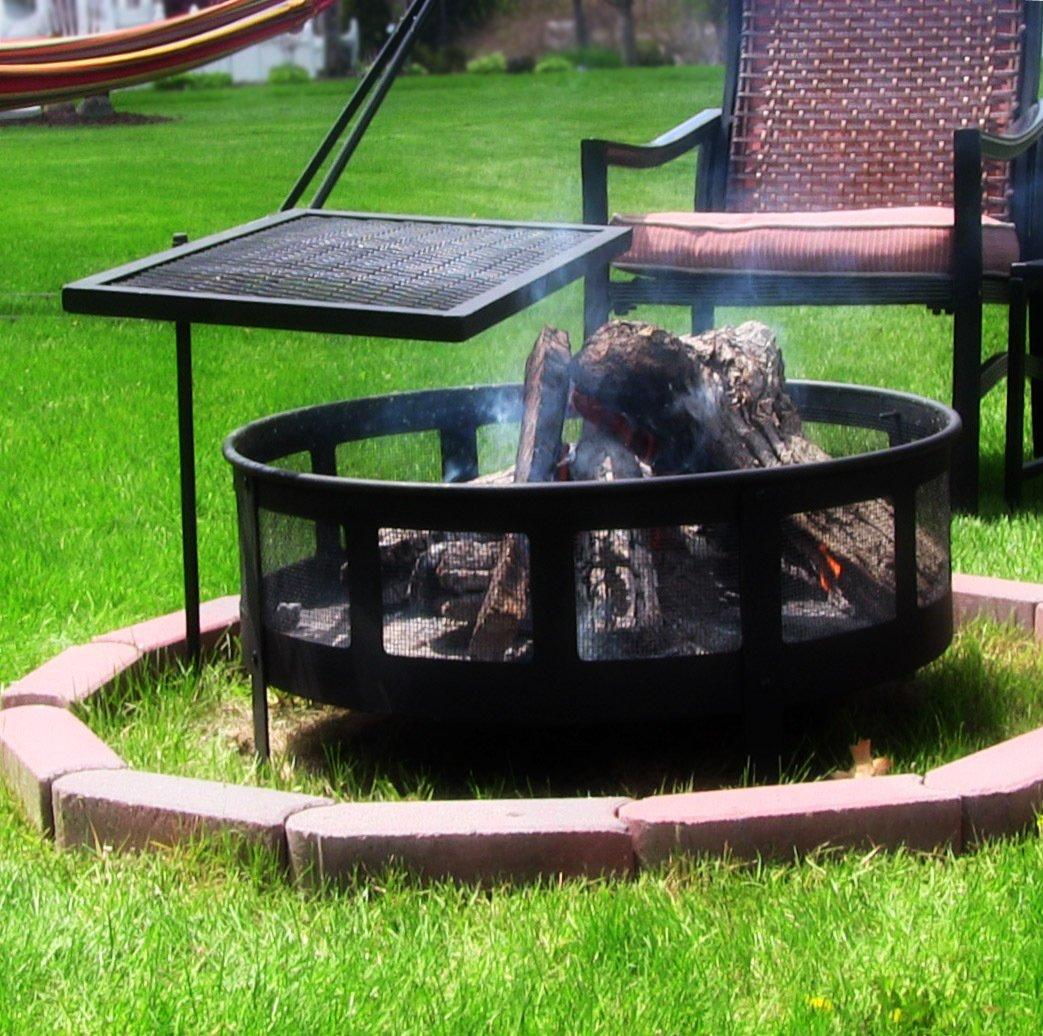 Amazon.com : Sunnydaze Heavy Duty Adjustable Campfire Cooking Swivel Grill,  24 Inch Long : Patio, Lawn U0026 Garden